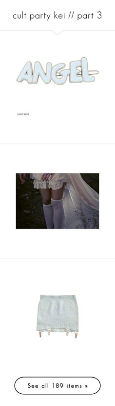 """cult party kei // part 3"" by scoutvenus ❤ liked on Polyvore featuring accessories, hair accessories, fillers, hair, blue, phrase, quotes, saying, text and blue hair accessories"