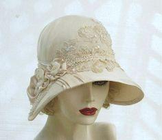lace hat.vintage style.
