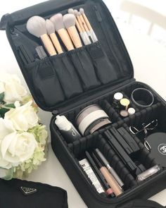Top 15 Makeup Carrying Case for Home or Travel - Top 15 Makeup Carrying Case for Home or Travel Source by joligracebeauty Mascara, Eyeliner, Makeup Carrying Case, Makeup Suitcase, Maybelline, Professional Makeup Case, Leather Makeup Bag, Makeup Travel Case, Eos Lip Balm