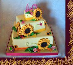 torta girasoli, sunflower cake