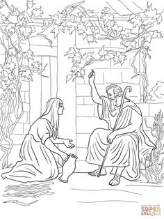 Elijah And The Widow Of Zarephath Coloring Page From Prophet Category Select 27197 Printable Crafts Cartoons Nature Animals Bible