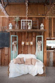 Cute set up for a Barn wedding.
