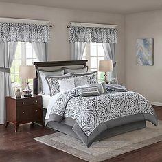 6e607222e30 Jordan Jacquard Pieced 24 Piece Room in a Bag by Madison Park Essentials -