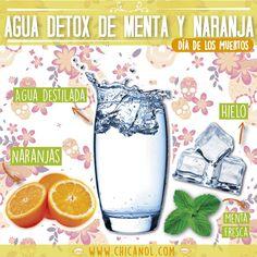 Aguas para desintoxicar y bajar de peso. Hidrátate con estas aguas con sabor para que no te aburras.