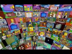 The Simpsons sphere - 360° 500 episodes at the same time - YouTube
