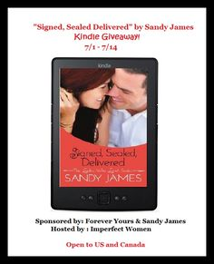 Sandy James – Signed, Sealed Delivered Kindle Giveaway – 26 Winners in all! ends 7/10/14 #giveaways #techgiveaways