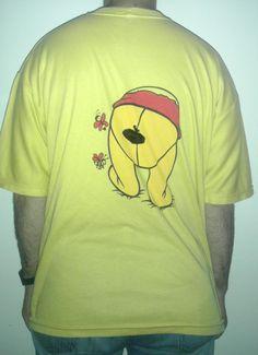 231 - #winnie #the #pooh #winniepooh #orsetto #bear #miele #goloso #honey #tshirt #t-shirt #ungheria #hungary #orecchie #coda #maglietta #back