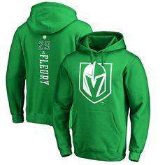 febcad661 Marc-Andre Fleury Vegas Golden Knights Fanatics Branded St. Patrick s Day  Backer NHL Hoodie – Kelly Green
