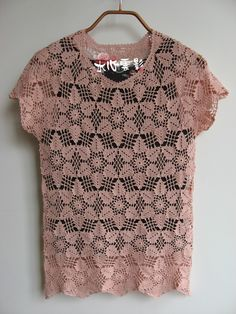 This blouse is made of one motif hex, so pretty with diagrams