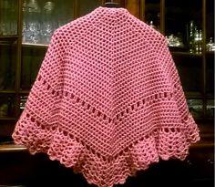 My work. Mantellina rosa. lana Crilly della Mondial. Uncinetto n. 4