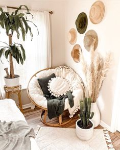 Cute Bedroom Decor, Room Ideas Bedroom, Living Room Decor, Bedroom Inspo, Wall Decor, Boho Room, Zen Room, Aesthetic Room Decor, Dream Rooms