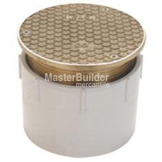 Zurn CO2450-PV PVC Adjustable Floor Cleanout w/ Nickel Bronze Frame an – MasterBuilder Mercantile Inc.