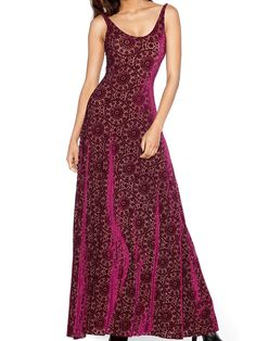 Burned Velvet Regal Red Maxi Dress - LIMITED (WW ONLY $120AUD) by Black Milk Clothing