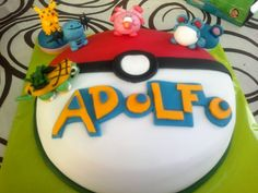 Tarta Pokemon decorada con fondant / Pokemon birthday cake