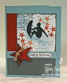 Great boy teen card! Use Rock Star from a muse studio.