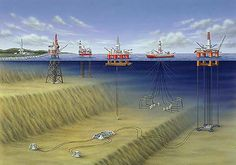 A few examples of offshore rigs, drilling and production platforms