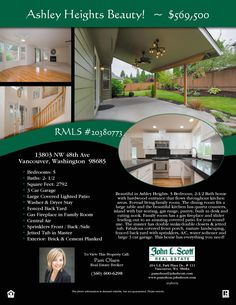 Price Improved! Real Estate for Sale: Now $569,500-5 Bd/2.1 Ba Beautiful Two Story Ashley Heights Turn-Key Home on Fully Fenced .24 Acre Corner Lot at: 13803 NW 48th Ave, Vancouver, Clark County, WA! RMLS 20380773. Listing Agent: Pam Olson (360) 600-6298, John L Scott, Vancouver, WA! #RealEstate #VancouverRealEstate #AshleyHeightsRealEstate #NorthFelidaRealEstate #TwoStoryRealEstate #FiveBedroomRealEstate #LargeLot #FencedYard #ThreeCarGarage #SkyviewHighSchool #PamOlson #JohnLScott