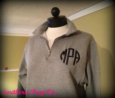 Monogrammed Ladies QUARTER ZIP PULLOVER by SouthernPrepCo on Etsy.