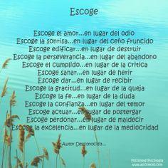 Escoge... Psicomold Psicólogos•Pioneros en Inteligencia Emocional  www.psicomold.com  Tel: 922 634 985