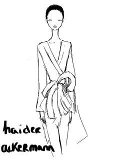 Haider Ackermann Paris Womenswear S/S 2013 by Rei Nadal.