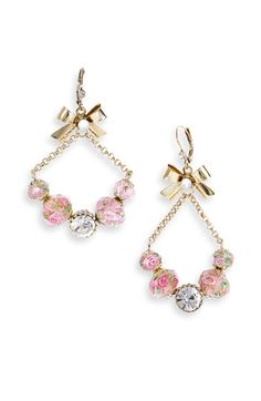 kate spade new york 'skyline' bracelet watch (Nordstrom Exclusive) available at Nordstrom Cute Jewelry, Beaded Jewelry, Jewelry Accessories, Fashion Accessories, Jewelry Box, Heart Earrings, Drop Earrings, Pink Earrings, Betsey Johnson Earrings