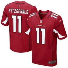 NFL Jersey's Youth Arizona Cardinals Larry Fitzgerald Nike Black Color Rush Game Jersey