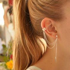 Soleil Feuille Glands Boucles D'oreilles Trois-Fil Longue Balancent Or couleur Charme Boucles D'oreilles Pour Les Femmes Mode Bijoux Fille de Cadeaux