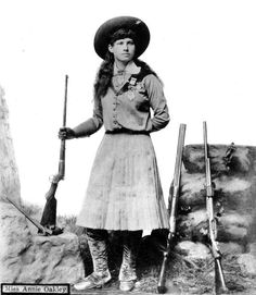 """When a man hits a target, they call him a marksman. When I hit a target, they call it a trick. I never did like that much!"" - Annie Oakley"