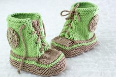 (6) Name: 'Knitting : Baby Trainers/ Sneaker Booties