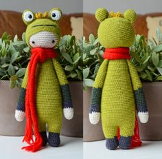 Crochet Pattern Frog King  Lalylala Modification by MyKrissieDolls