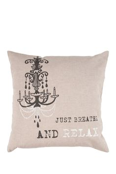 Just Breather Pillow - Black Olive, Feather Gray and White on HauteLook