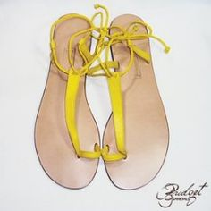c325ffca7ef Bridget Sandals of Jamaica - Kay - Yellow Leather Accessories