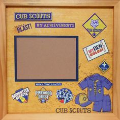 Your place to buy and sell all things handmade Wolf Ranks, Scrapbook Pages, Scrapbooking Ideas, Memory Album, Hobbies And Interests, Eagle Scout, Shadow Box Frames, Cub Scouts, Scouting