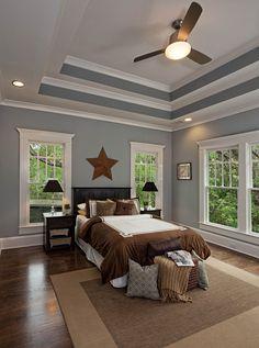 Design Bedroom Closet Ceilings New Ideas Bedroom Ceiling, Home Decor Bedroom, Paint Ceiling, Ceiling Painting, Design Bedroom, Painted Tray Ceilings, Bedroom Interiors, Bedroom Ideas, Leather Carving