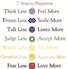 Will get all 7 tattooed on me as a reminder. The 7 chakras!                                                                                                                                                                                 More