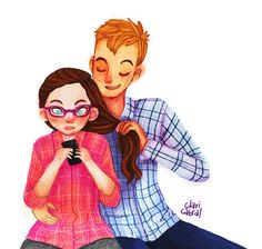 Cath and Levi from Fangirl by Rainbow Rowell
