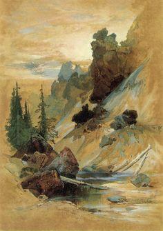 Moran, Thomas  The Devil's Den on Cascade Creek  1872