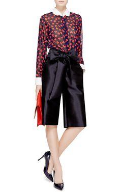 Silk Heart Print Blouse by Harvey Faircloth Now Available on Moda Operandi