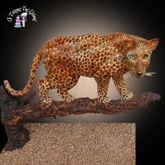 Leopard Gravity Cake - Cake by Moustoula Eleni (Οι Τούρτες Της Ελένης)