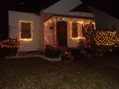 """""""I put all the lights up right after thanksgiving. My house is the only brightly lighted house on my block. I can't afford to give Christmas presents, but I can share in the X-mas spirit. MERRY CHRISTMAS EVERYONE!!!"""" City: Detroit 