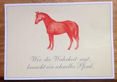 Postkarte mit Pferd
