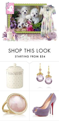 """""""A Basketful of Puppies"""" by lisa-arnold-holden ❤ liked on Polyvore featuring Marie Hélène de Taillac, Ippolita and Christian Louboutin"""