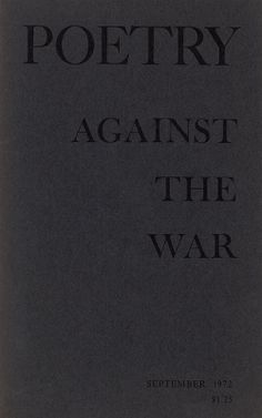 Poetry Against the War