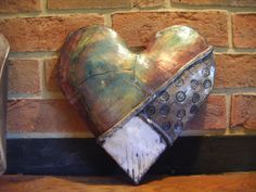 Another broken heart. fb-Penny Rich raku art