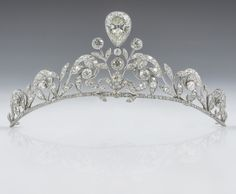 The Lannoy family tiara - worn by Countess Stephanie de Lannoy at her wedding to Prince Guillaume of Luxembourg.  The tiara, made by Altenloh in Brussels, was previously worn by her sisters and sisters-in-law on their wedding days.