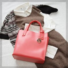 FURLA Totes FURLA cute one piece leather style tote bag MUSA/MUSE new 4