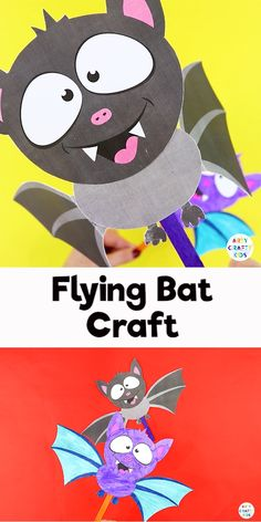 Easy Paper Bat Craft Learn how to make this easy bat paper toy with your kids this Halloween. With a printable bat template, this is a great paper bat craft for preschoolers and young children Halloween Arts And Crafts, Halloween Crafts For Toddlers, Winter Crafts For Kids, Toddler Crafts, Preschool Crafts, Halloween Fun, Bat Activities For Kids, Halloween Crafts Kindergarten, Halloween Decorations For Kids