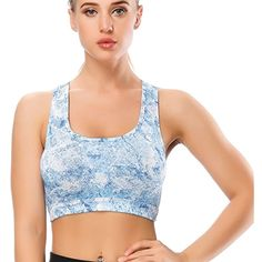 d363a4ead9989 Racerback Sports Bra - Premium Womens Bra for Gym Yoga Running Workout  Fitness Sport(S