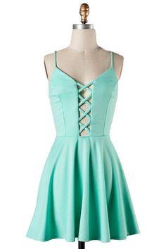 Peek Chic Cutout Dress - Mint $42.00