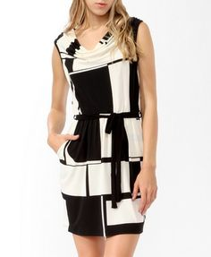 Belted Colorblocked Dress by Forever 21. ♥ This is cute for work. :D